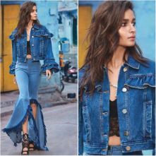 Alia Bhatt wearing flared denims